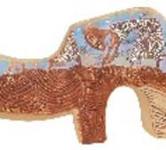Подсвечник керамический Носорог