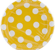 Тарілка паперова маленька - Sunflower Yellow Decorative Dots (11179374748)