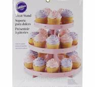 Подставка - стенд под кексы Corrugated Cupcake Stand - Pink