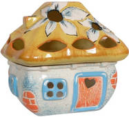 Подсвечник керамический Хатка