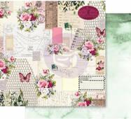 Лист скрапбумаги Misty Rose 30х30см Scented Love Letters