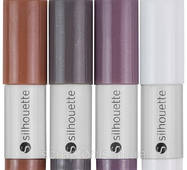 Ручки в плоттер Silhouette Sketch Pens 4/Pkg Natural: Brown, Dark Brown, Gray, White