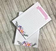 Набір листів у блокнот А5, двосторонній друк - дизайн 3