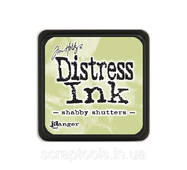 Подушечка с чернилами Ranger Tim Holtz Distress Mini Ink Pad 3х3 см Shabby Shutters (789541040163)