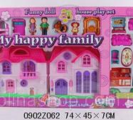 Будиночок 8032 ляльковий, з сім'єю, меблями, собачкою