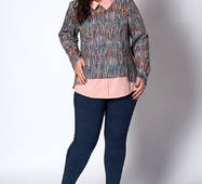 Жіноча блуза, великі розміри, 575