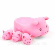 Іграшка для ванни ZT8891 Уточка, пискавка (Свинки)