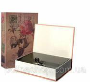 Книга-сейф MK 0791 метал/картон (Троянда )