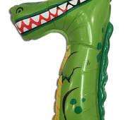 """Кулька з плівки """" Цифра сім - крокодил """", 29 х 47 см."""