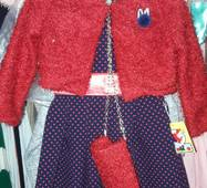 Стильне плаття з болеро для дівчинки