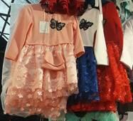Ніжне плаття з метеликом для дівчинки