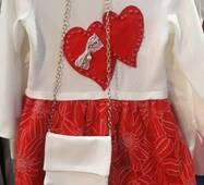Красивое плаття з сумочкою для дівчинки
