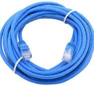 Сетевой кабель JXD 5 метра UTP 4, литой patch cord синий