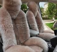 Авточехол бежевый из Новозеландской овчины