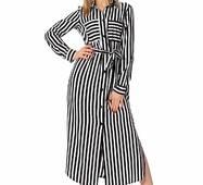 Жіноче довге плаття в смужку 001132