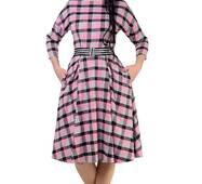 Стильне жіноче плаття в клітинку, 8509