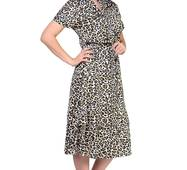 Жіноче шовкове леопардове плаття, 8524
