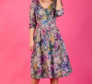 Женское цветочное платье, миди, 260