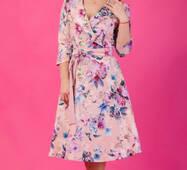 Женское цветочное платье, миди, 259