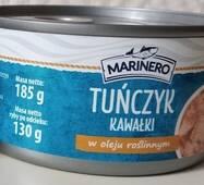 Тунець шматочками Marinero олії 185 г Польща