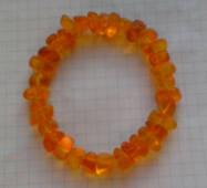 Браслет натуральный цельный природный янтарь 7-12 мм