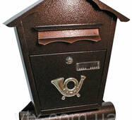 Поштова скринька ProfitM СП-4 430х370х95 Мідний антик, Фото