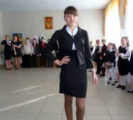 Шкільна форма для дівчат старших класів, чорна