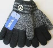 Теплые перчатки с эмблемой для мальчиков.