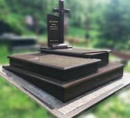 Подвійний пам'ятник з граніту №76 купити в Луцьку