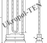 Трубчастий електронагрівач для пральних машин 4401-218