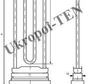 Трубчастий електронагрівач для пральних машин 4401-256