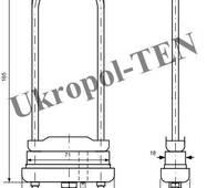 Трубчастий електронагрівач для пральних машин 4402-701