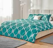 Комплект постельного белья Dormeo Yin&Yan  Светло-бирюзовый  200х200 см