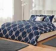 Комплект постельного белья Dormeo Yin&Yan  Синий  200х200 см