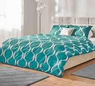 Комплект постельного белья Dormeo Yin&Yan  Светло-бирюзовый  140х200 см