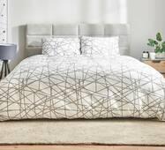 Комплект постельного белья Dormeo Геометрия  Серый  140х200 см