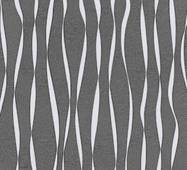 Обои бумажные Континент Акцент  черный фон белые полосы с серебром 1346