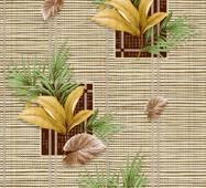 Обои бумажные влагостойкие Тропики 2 коричневые 2014