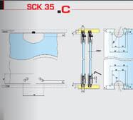 Розсувна система для шафових відділень нижнього спирання SCK35С