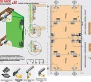 Раздвижная система для шкафов верхнего опирания 05МКК-2 (гармошка).