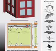 Розсувна система для шаф верхнього спирання МКК-2А(гармошка)