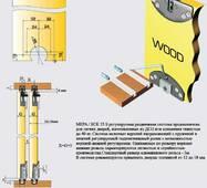 Раздвижная система для шкафных отделений нижнего опирания SCK35S