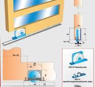Розсувна система для шаф і міжкімнатних дверей нижнього спирання SKS90