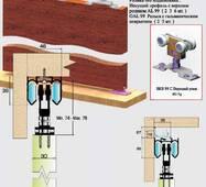Раздвижная система для межкомнатных дверей и шкафов верхнего опирания SKS99С-60.