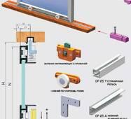 Розсувна система для шафових відділень нижнього спирання SCK25