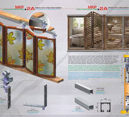 Розсувна система для вікон верхнього спирання MKP-2A(гармошка)