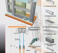 Розсувна система для шаф нижнього спирання РКМ80-001