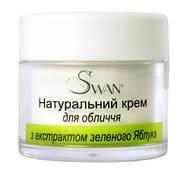 """Натуральний крем для обличчя """" з екстрактом зеленого Яблука"""" 50 мл ( для сухого типу шкіри)"""