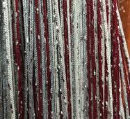 штори нитки веселка дощ номер 1 + 4 + 7 білий + бордовий + сірий