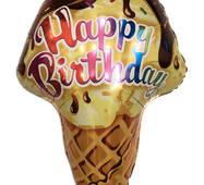 Фольгированный шар Мороженое в вафельном стаканчике, 69х47 см (Китай)
